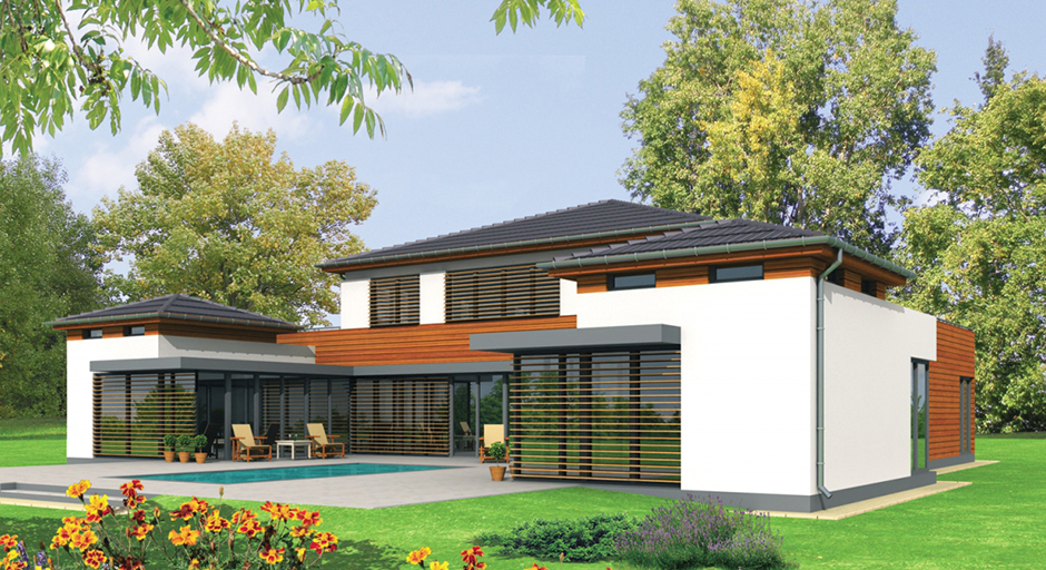 轻钢房屋框架效果图